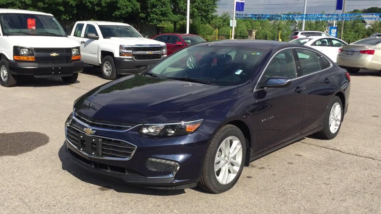 2016 Chevrolet Malibu Blue Velvet Metallic Lt Roy Nichols Motors Courtice On