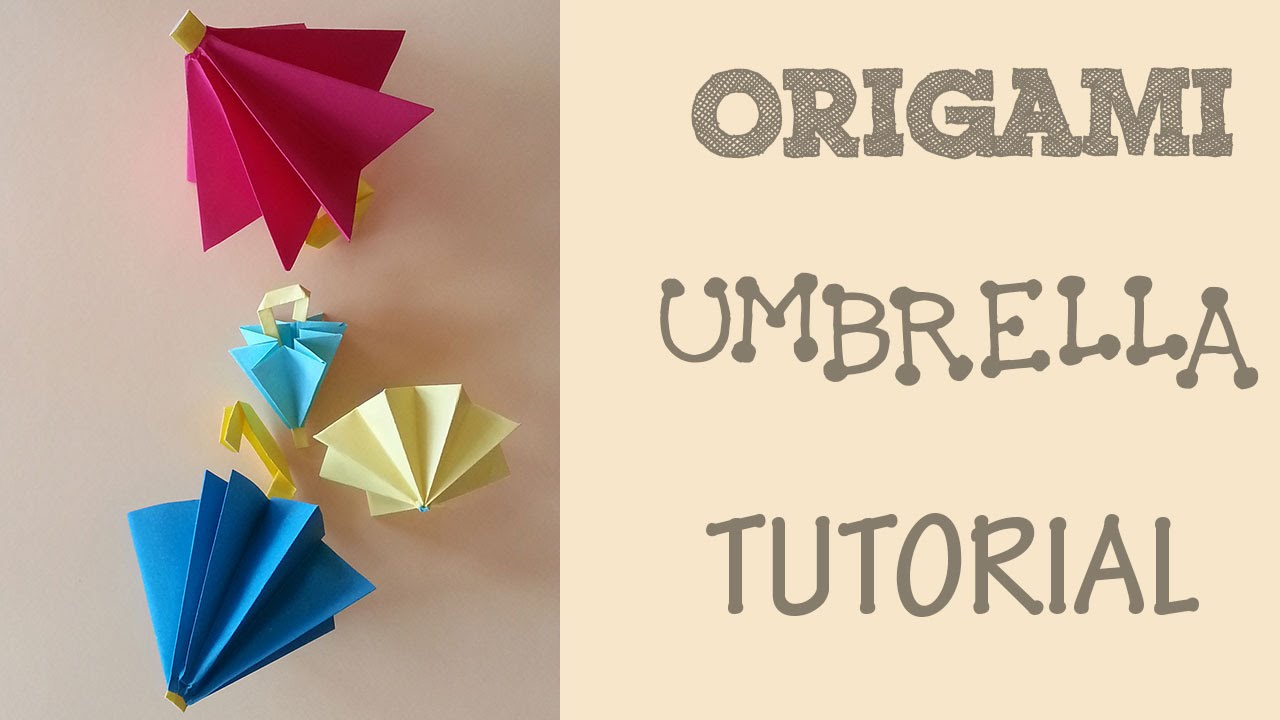 origami umbrella tutorial youtube