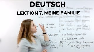 НЕМЕЦКИЙ. Урок 7. Meine Familie - моя семья на немецком    #немецкий