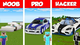 Minecraft NOOB vs PRO vs HACKER: SPORT CAR HOUSE BUILD CHALLENGE in Minecraft / Animation