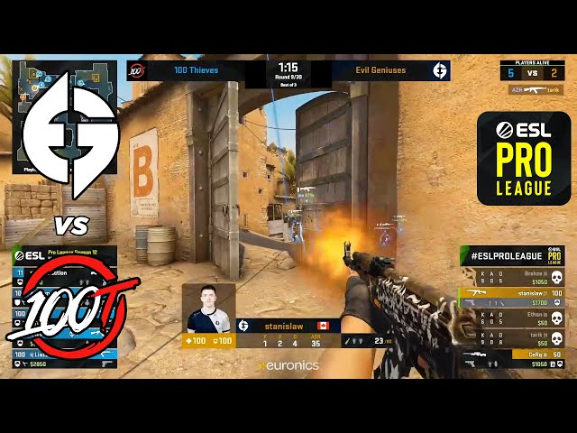 EG vs 100 Thieves - ESL Pro League - HIGHLIGHTS l CSGO