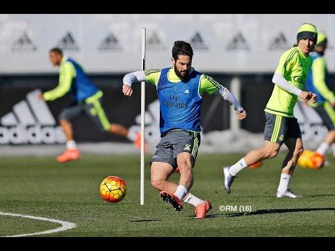 CRISTIANO RONALDO, ISCO and BENZEMA score fantastic team goals in Real Madrid training session!