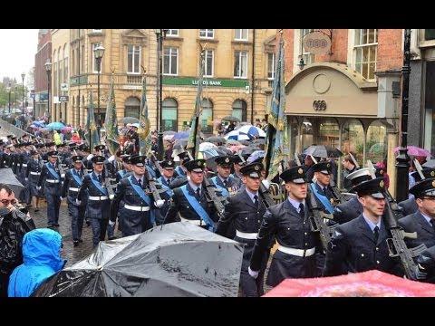 RAF Waddington 55th Freedom of the City parade - Lincoln