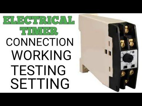 STREET LIGHT TIMER SETTING  CONNECTION WITH PRACTICAL - YouTube