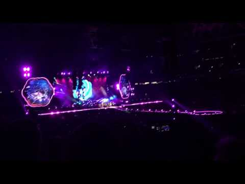 Coldplay LIVE Brisbane 2016 tour - Waterfall