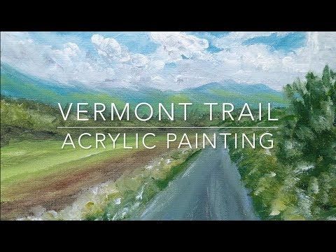 How to Paint an Acrylic Landscape | Vermont Trail | Complete Painting Lesson