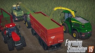 Kiszonka na 2 sieczkarnie w Farming Simulator 2015 MP #13 ㋡ MafiaSolec & Bronczek & Tanas & Adam