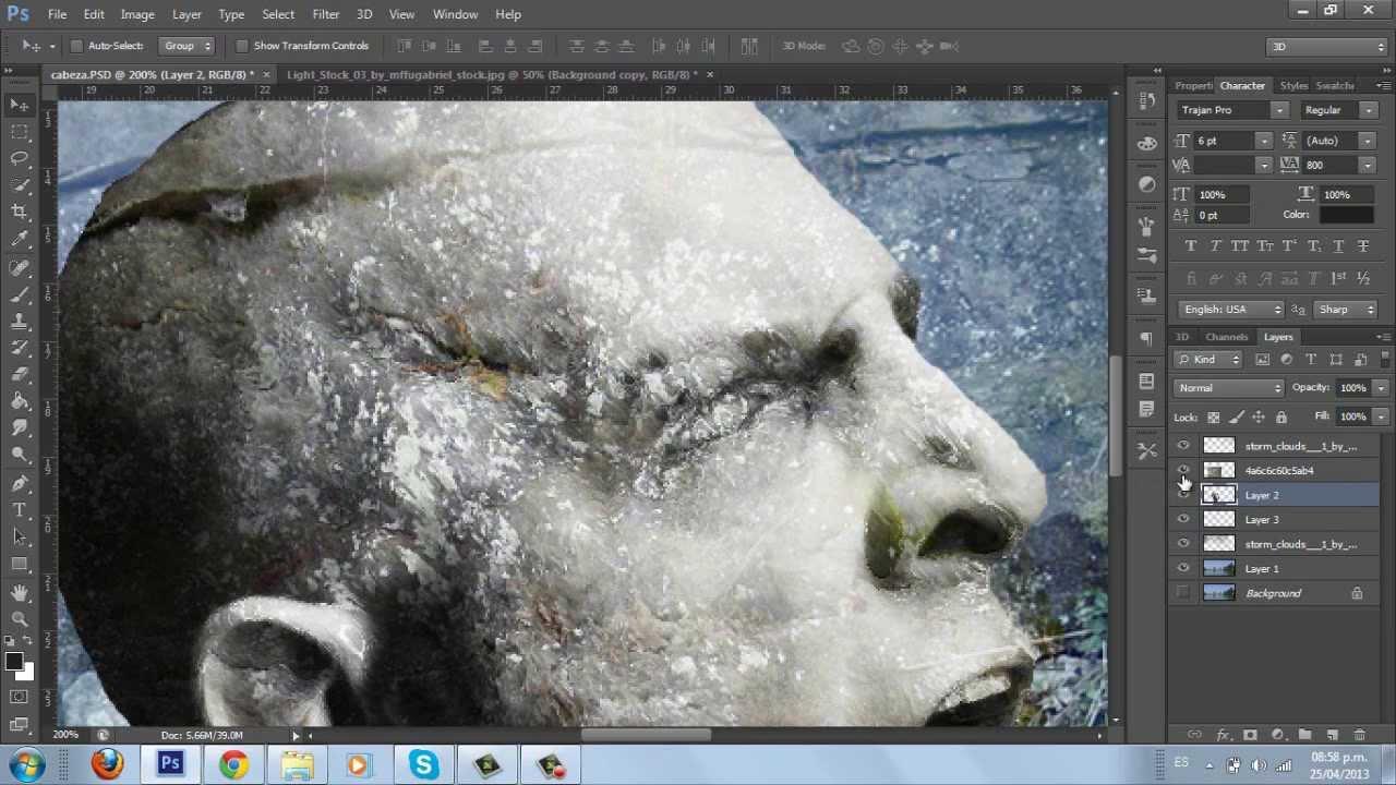 Tutorial photoshop efecto piedra parte 1 3 youtube - Aerosol efecto piedra ...