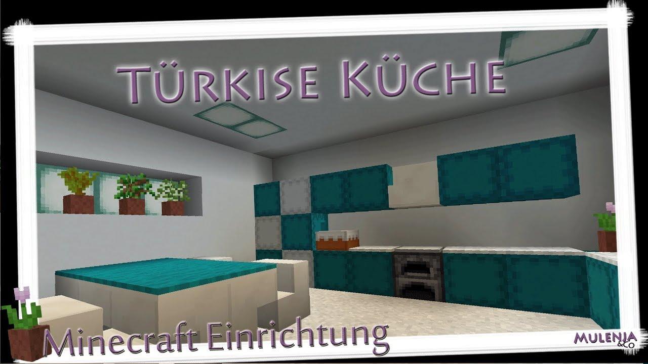 Minecraft   Türkise Küche | Einrichten In Minecraft