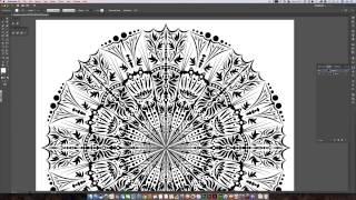 Create a mandala template in Illustrator