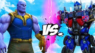 THANOS vs Optimus Prime (Transformers) - EPIC BATTLE