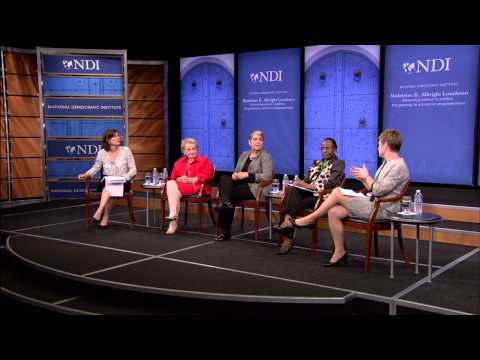 "2014 MKA Award Panel: ""Advancing women in politics: the gateway to economic empowerment"""