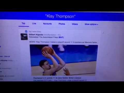 Klay Thompson Record 11 3 - Pointers Hits Twitter Trend