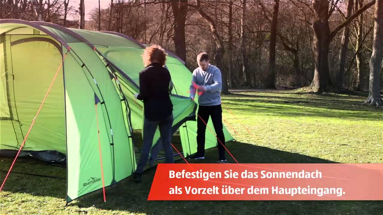 Hofer Zelt 6 Personen : Personen großraumzelt youtube