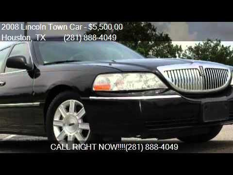 2008 Lincoln Town Car Executive L 4dr Sedan For In Hous