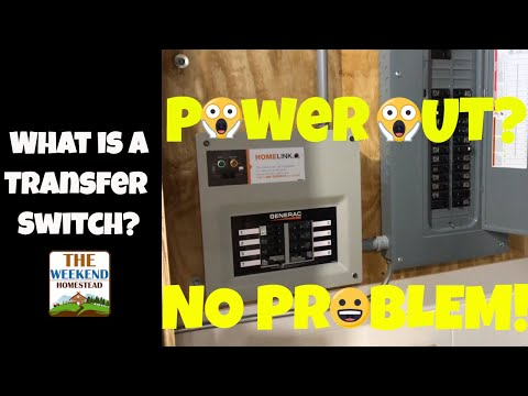 What The Heck Is A Transfer Switch ~ Why Do I Need A Generator ~ GENERAC Transfer Switch!