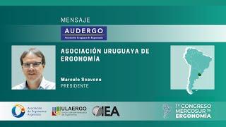 1° Congreso Mercosur de Ergonomía 5 y 6 Noviembre 2020 | Marcelo Scavone, Presidente de AUDERGO