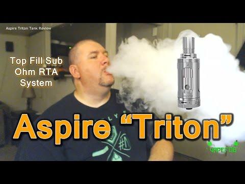 """Aspire """"Triton"""" Top Fill Sub Ohm Tank Review   VAPEFOG"""