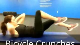 Flutter Kicks & Bicycle Crunches
