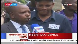 Nyeri Taxi drivers protesting over poor road infrastructure