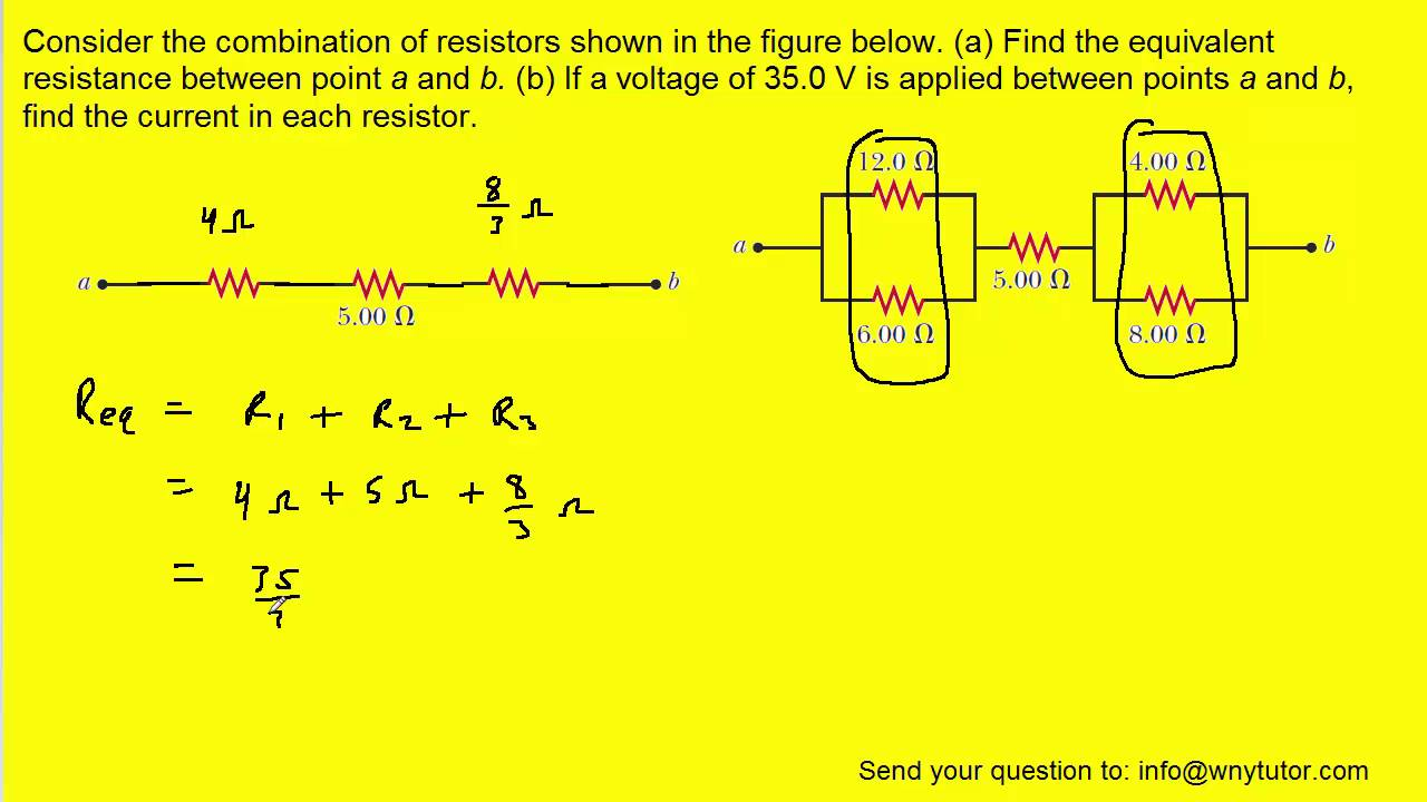 Find The Equivalent Resistance Of The Combination Of ...