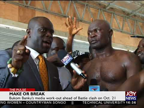 Bukom Banku's media work-out ahead Bastie clash on Oct.21
