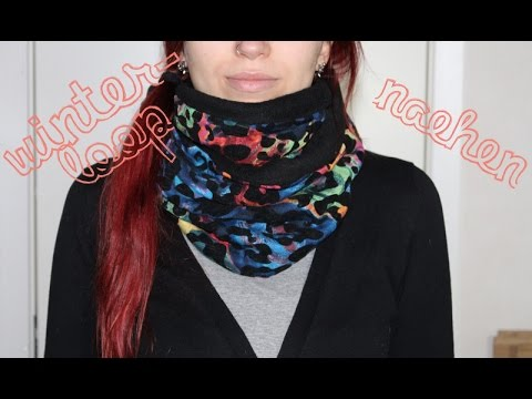 Winter Loop - kuscheligen Fleece-Schal selbst nähen - schnelles und ...