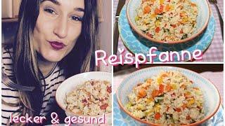 Gesundes Abendessen - Reispfanne mit Gemüse & Hähnchen / Rezept & Anleitung | Melodie
