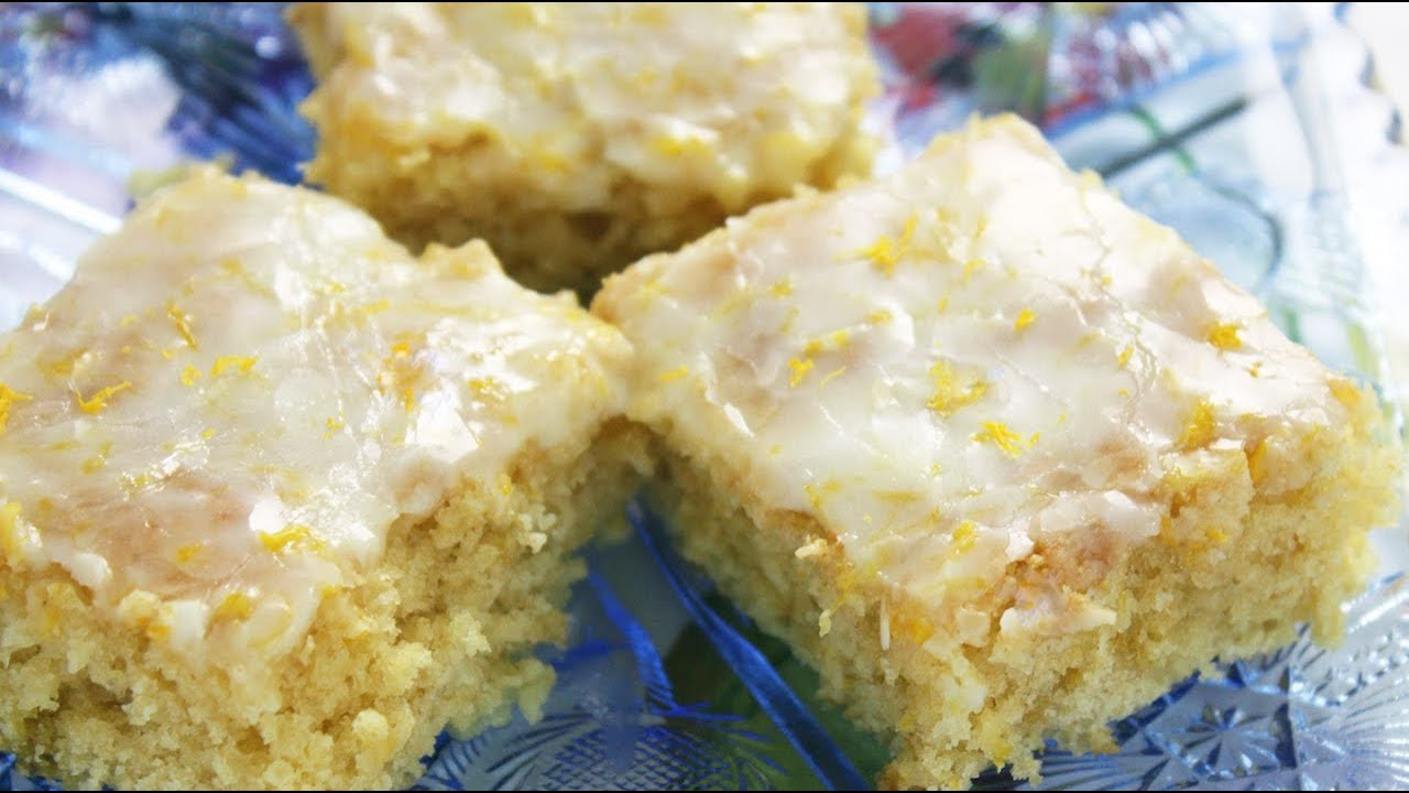 One Bowl Lemon Brownies - Super Easy Recipe