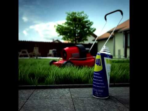 ניקוי ותחזוקת מכסחת דשא עם WD-40