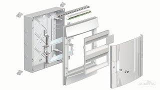 ABB Mistral41F 24M - Бокс встраиваемый на 24 модуля с непрозрачной дверцей-(1SLM004101A1105). Обзор