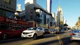 Driving on Hollywood Boulevard in 4K