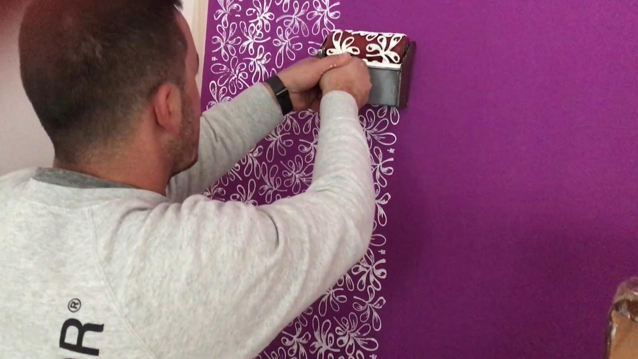 Migliora il trattamento con vapore; Rullo Decorativo Effetto Carta Da Parati Youtube