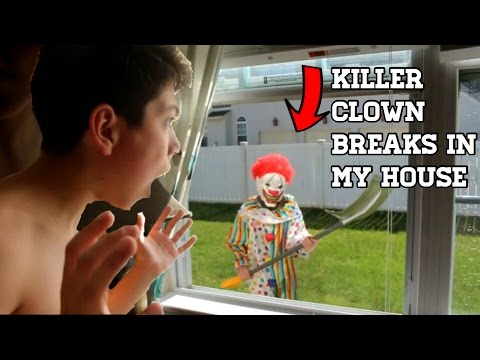 CREEPY KILLER CLOWN TRIES TO BREAK INTO MY HOUSE *WE CAPTURED HIM*