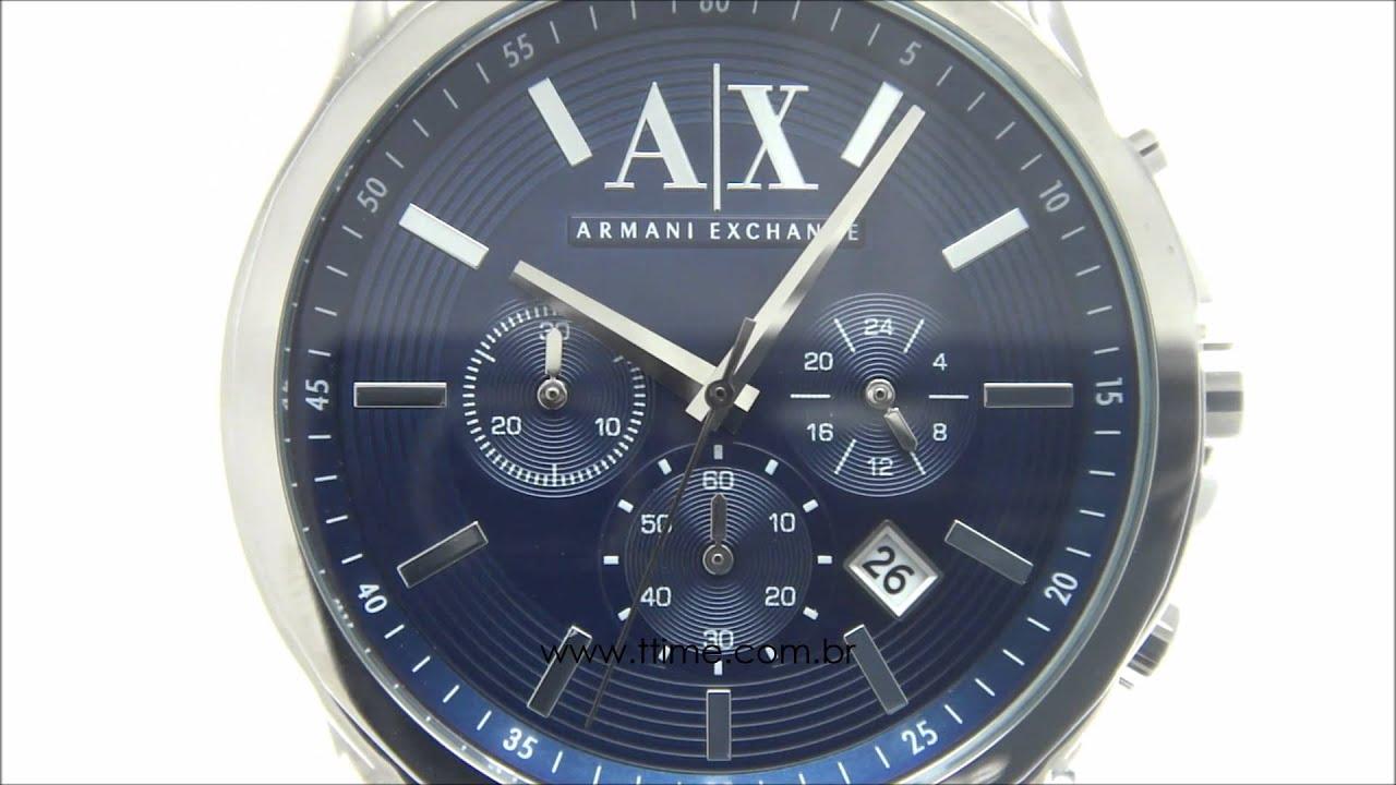 c8915f4dd0a Relógio Armani Exchange AX2501 0AN - YouTube