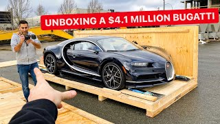 TAKING DELIVERY OF A $4.1 MILLION BUGATTI SPORT! *FIRST START UP REVS*