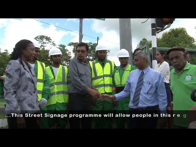 National Local Roads/Street SIgnage Programme Launch in Rio Claro