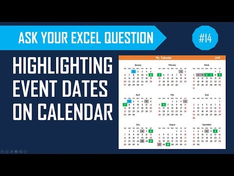 Highlight Events, Weekends And Holidays On Calendar In Excel