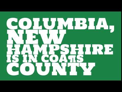 What county is Columbia, New Hampshire in?