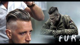 Brad Pitt Hair from FURY  |  Men's Undercut & Hairstyle Trend Tutorial #NEW 2017