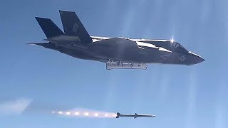 F-35B Lightning II Fires AIM-120 AMRAAM Missile For The First Time During WTI Training