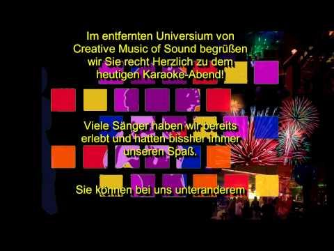 Karaoke mit Creative Music of Sound