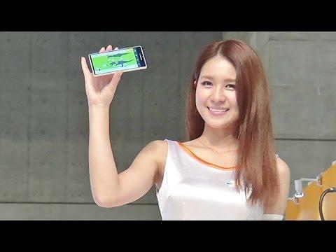 美人コンパニオン立花サキとTEサウルス!! CEATEC JAPAN 2014