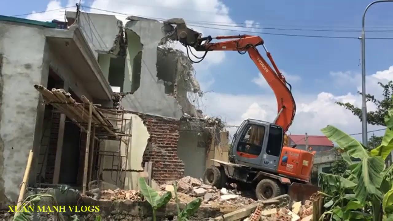 Thử thách phá hủy nhà cao tầng lấy sắt vụn | XuânMạnh Vlogs