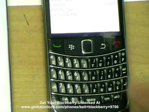 Bell Blackberry Bold 9700 Unlock - Unlocking Code (Canada)