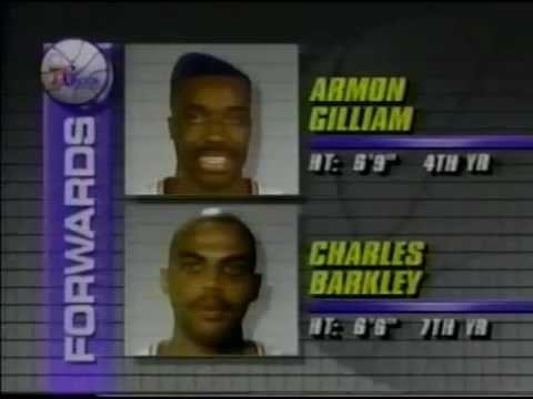 1991 Chicago Bulls vs Philadelphia 76ers. Game1. Part 1