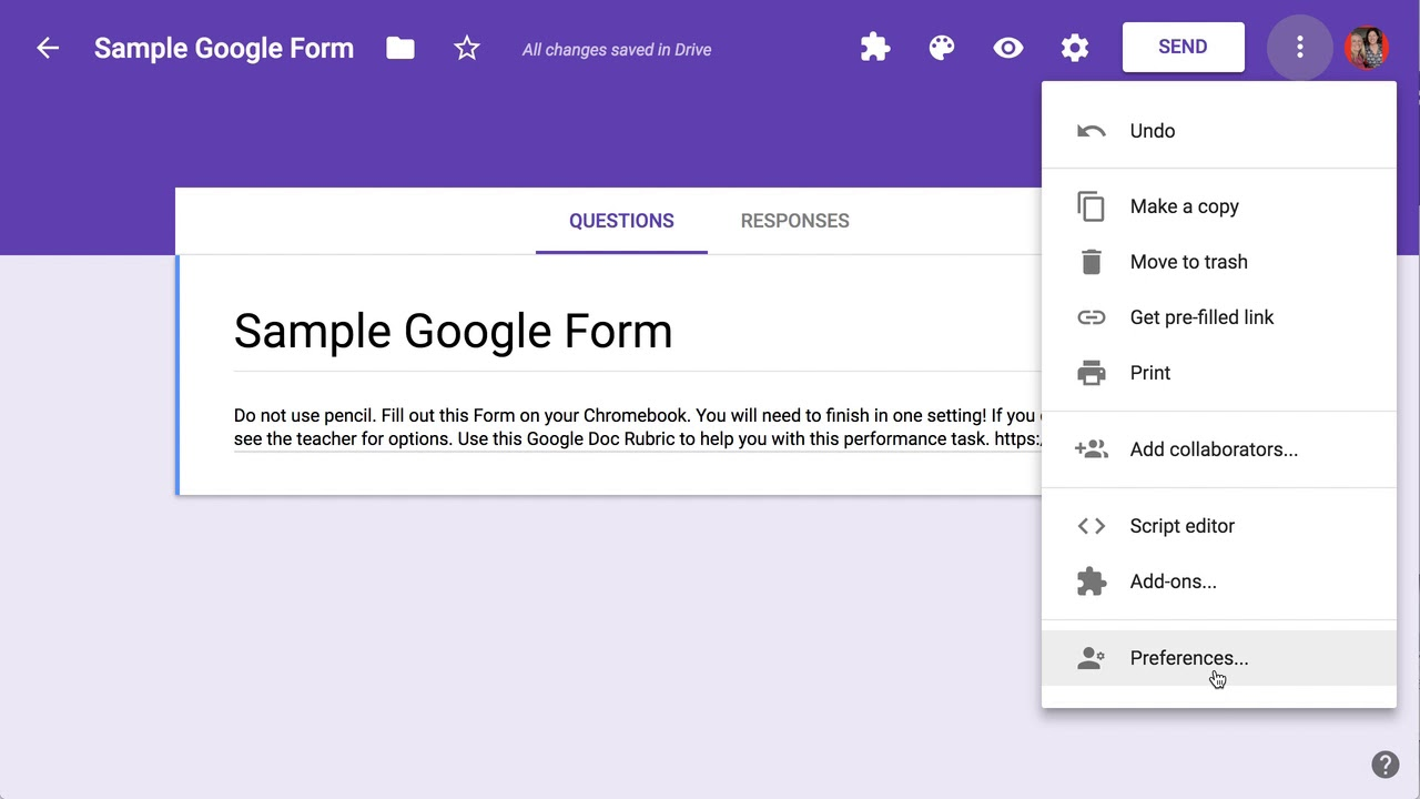 how to see google forms you submitted