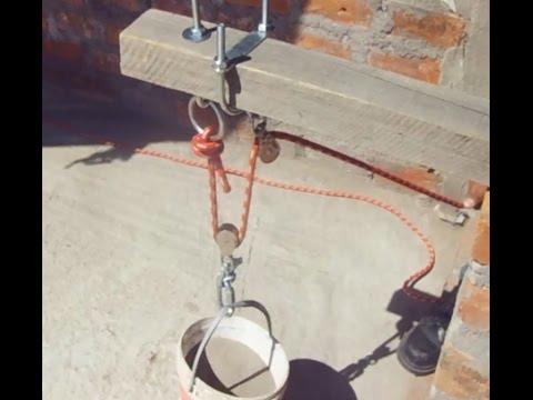 Izaje de materiales de construcci n uso de poleas - Material de construccion segunda mano ...