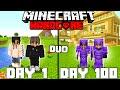 We Survived 100 Days In Hardcore Minecraft - Duo Minecraft Hardcore 100 Days
