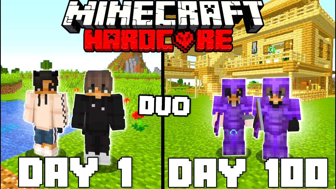 Download We Survived 100 Days In Hardcore Minecraft - Duo Minecraft Hardcore 100 Days